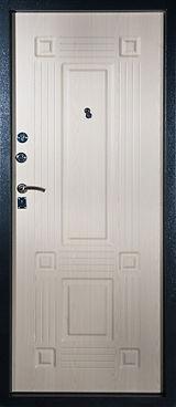 Дверь железная FG-LT+02-04 с отделкой белого цвета наружная сторона белый рал полимерного порошкового покрытия, внутренняя сторона МДФ панель белого цвета