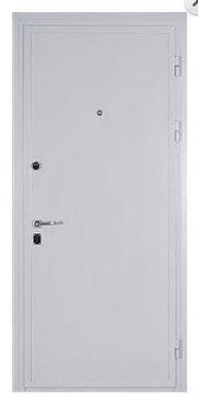 Дверь с белым антивандальным покрытием термокраской ФГ-ЛТ+2-03