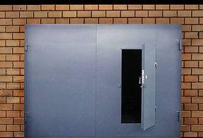 Гаражные ворота с калиткой