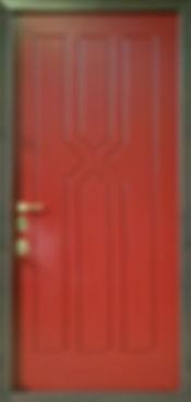 Отделка двери железной внутренняя из МДФ с необычным рисунком