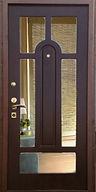 Дверь железная с зеркалом необычной формы