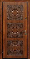 Входная элитная дверь с резьбой орнаментом