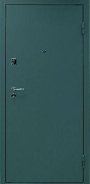 Наружная отделка недорогой входной двери с отделкой полимерным порошковым покрытием