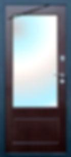 Дверь входная с зеркалом в Реутов