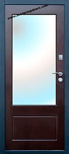 Дверь входная с зеркалом