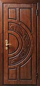 Стальная дизайнерская дверь с резьбой, дорогое и красивое решение для загородного дома или коттеджа