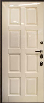Дверь входная глянцевая бежевая