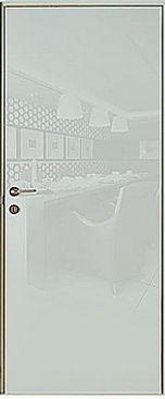 Красивая входная дверь с белой глянцевой дверной панелью Светлая входная железная дверь FG-LT+02-06