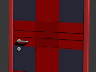Дизайнерская железная дверь «Клетчатая рубашка»