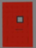 Красная дверь с квадратным стеклопакетом