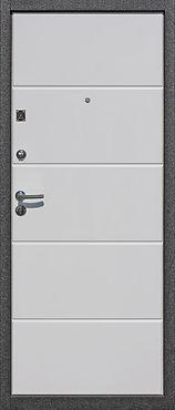 Дверь белая с отделкой МДФ накладкой белой