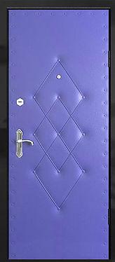 Недорогая железная дверь с отделкой кожезаменителем