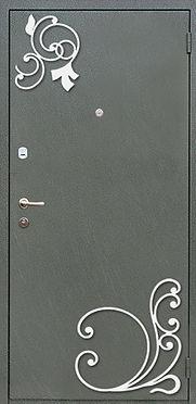 недорогая входная дверь с ковкой