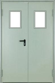 Дверь двуполая противопожарная с остеклением