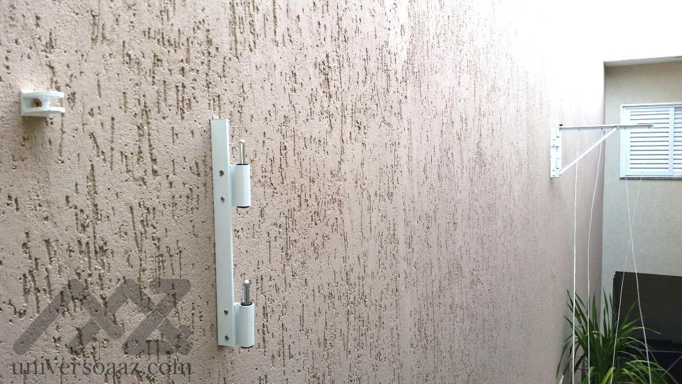 Varal para muro ou parede desmontavel