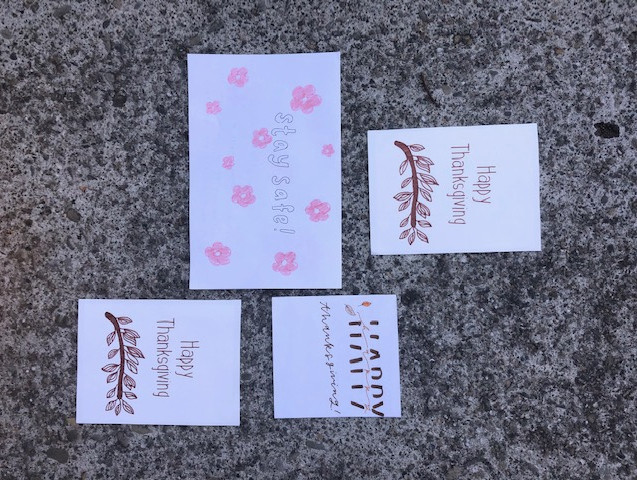 Cards given to Hillside Senior Care