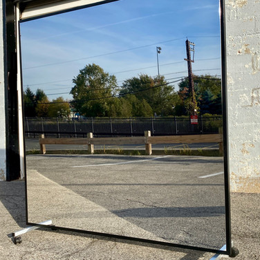 LiteMirror wood frame portable mirror