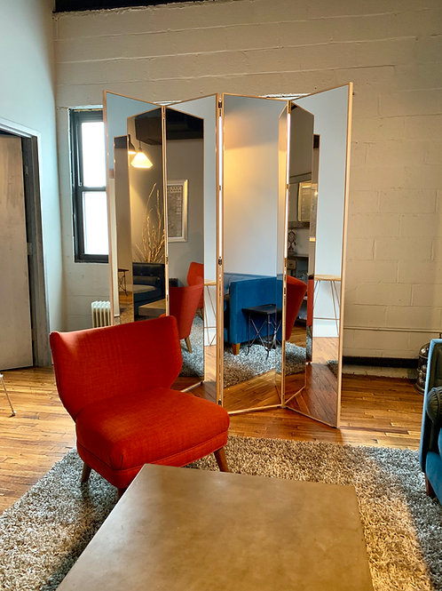 Wood Framed Multipanel Mirrors