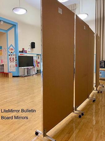 LiteMirror Bulletin Board Mirrors