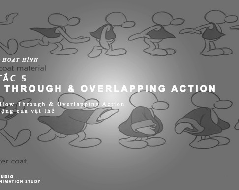 12 Nguyên Tắc Animation - Nguyên Tắc 5: Follow Through & Overlapping Action