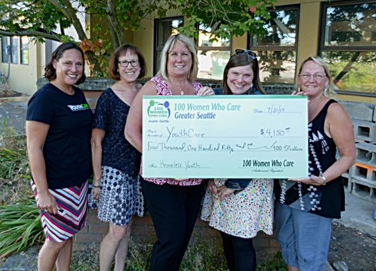 100 Women Seattle donation to YouthCare Seattle