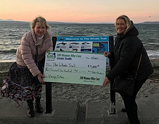 100 Women Donation to The Whale Trail