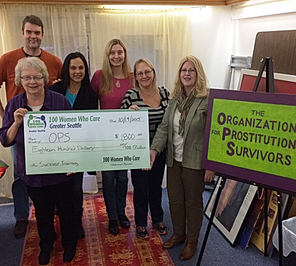 100 Women Seattle donation to the Organization for Prostitution Survivors