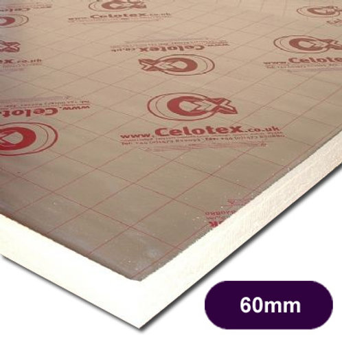 CELOTEX GA4060 PIR INSULATION  2400X1200X60MM