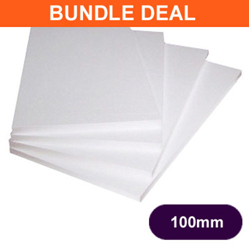 100MM POLYSTYRENE EPS70 INSULATION - 12 SHEET BUNDLE DEAL