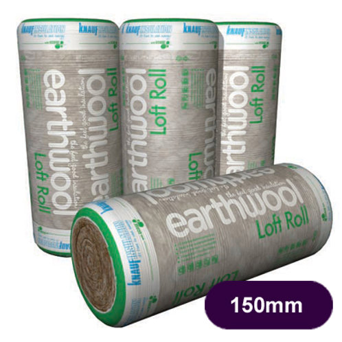 FIBREGLASS LOFT ROLL 150MM 9.18M2 PACK