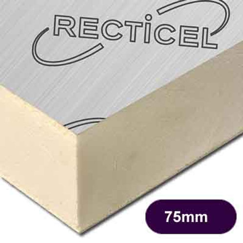 75MM THICK RECTICEL EUROTHANE GP PIR INSULATION BOARD