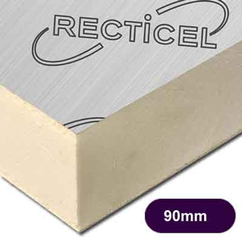90MM THICK RECTICEL EUROTHANE GP PIR INSULATION BOARD