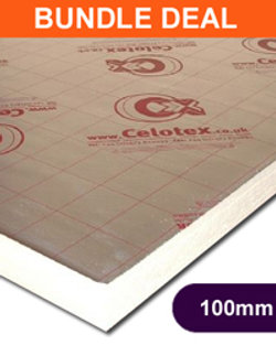 CELOTEX GA4100  2400X1200X100MM - 12 SHEETS