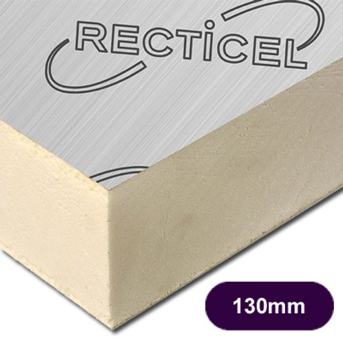 130MM THICK RECTICEL EUROTHANE GP PIR INSULATION BOARD
