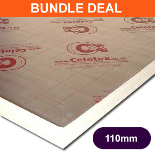CELOTEX XR4110 INSULATION BOARD 2400X1200X110MM - 11 SHEETS