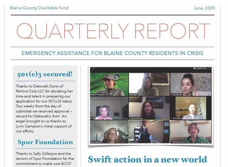 Quarterly Report for June 2020
