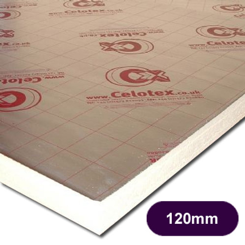CELOTEX XR4120 INSULATION 2400X1200X120MM