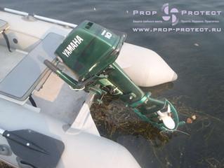 Защита гребного винта подвесного лодочного мотора