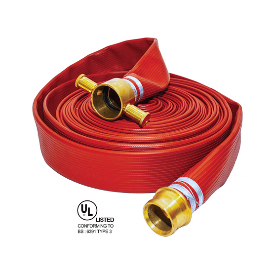 Pyroprotect - UL 16 Bar 65mm x 30m Synthetic Rubber (Type 3) Fire Hose