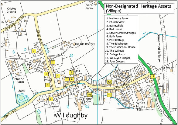 Map 14 Non-Designated Heritage Assets (V