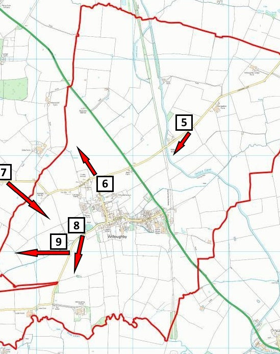 Map 2B Significant Views (Wider Parish).
