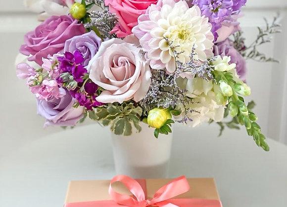 Flower Arrangement  + Brigadeiros Box