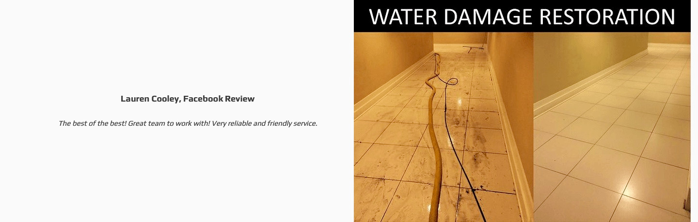 Water Damage restoration and positive re