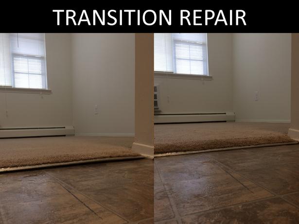 TRANSITION AREA REPAIR