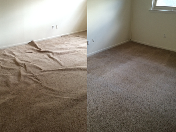 before after wrinkles in carpet