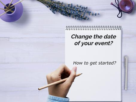 Hoe kondig je een 'change the date' aan?