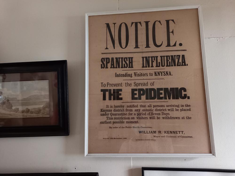 Knysna Museum Spanish Flu Pandemic