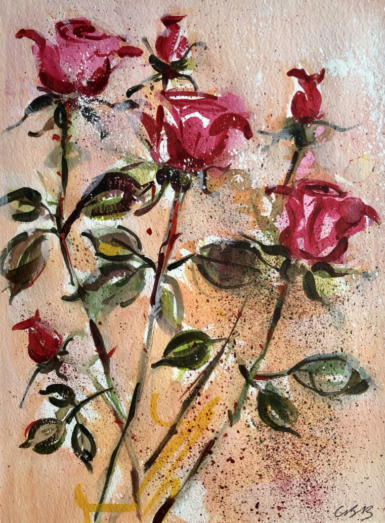 Pink RosesSOLD