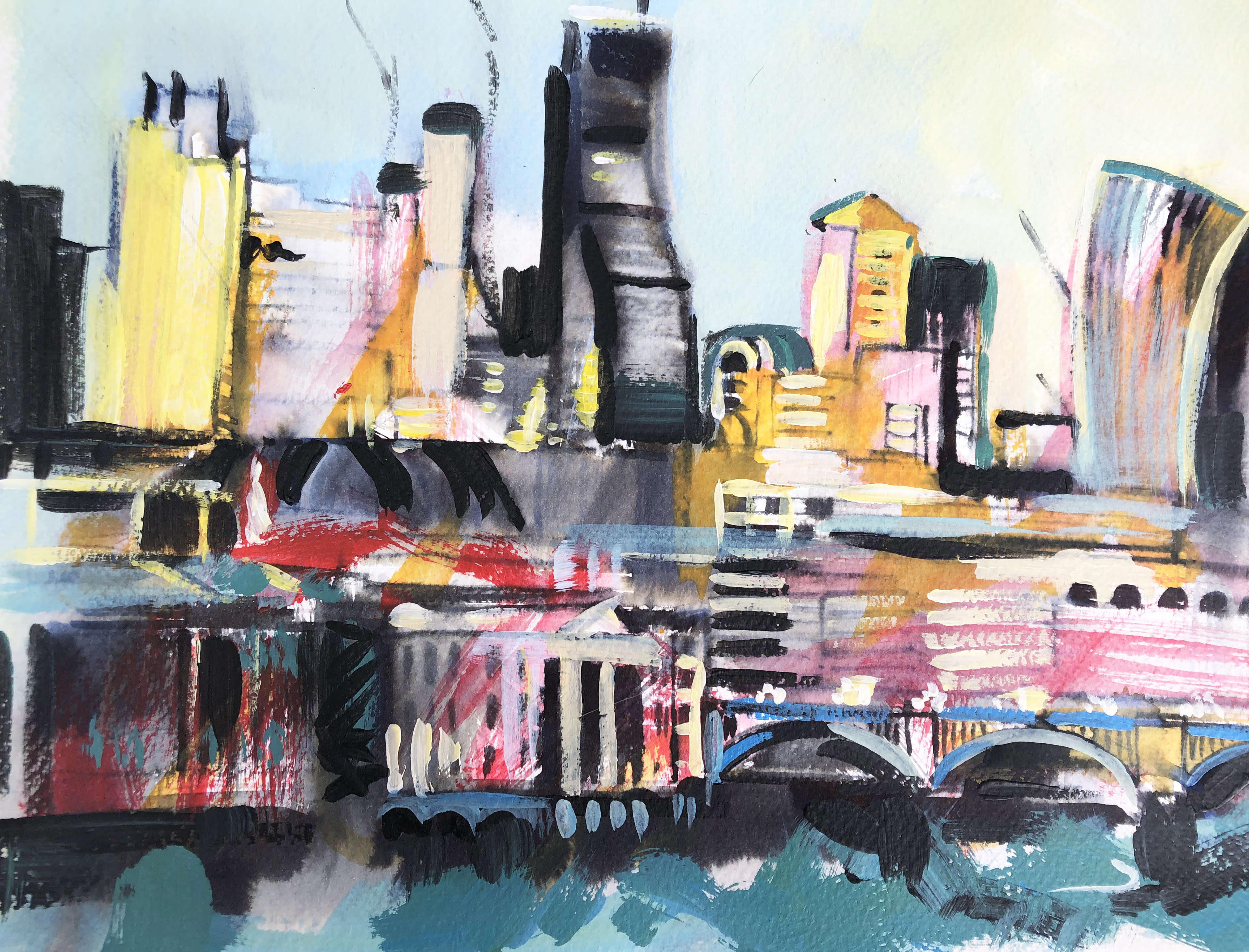 London Acrylic painting