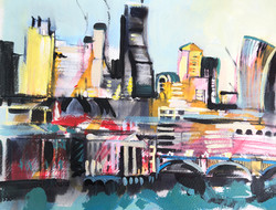 London Acrylic painting